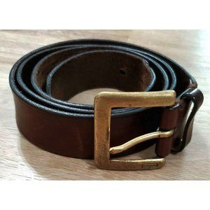 Coach Mens 3896 Brown Leather Belt Size 40